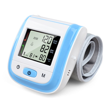 Health Care Blood Pressure Monitor Automatic Sphygmomanometer Blood Pressure Meter Digital Wrist Tonometer Pulse Meter 5 Color(China)