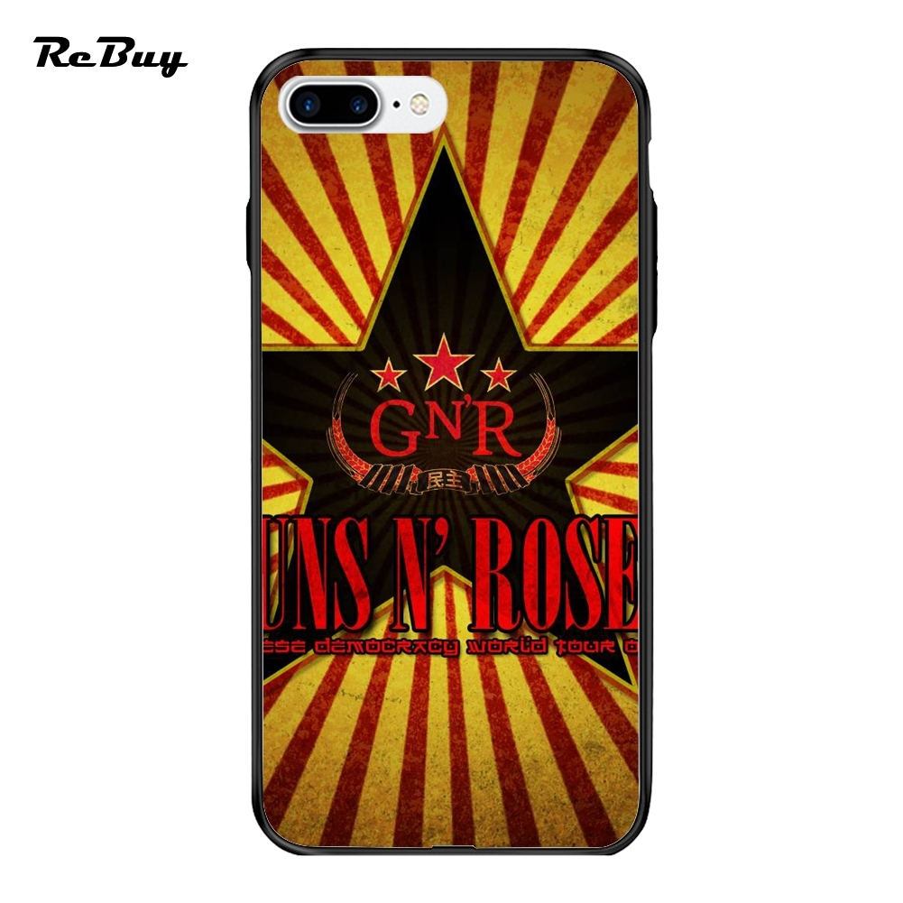 Gun N Roses For Phone Cases Ultra-thin PC&TPU For Iphone 7/7plus Case Plating Button Glaze Covers For Iphone 6/6s/6plus(China (Mainland))