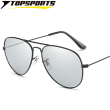 Men polarized photochromic Sunglasses outdoor sports Glasses UV400 eye protective day night vision driving Eyewear TAC lens(China)