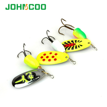 New 4pcs Spinner Bait Fishing Lure Set Spoon Spinner Bait Spinnerbait Metal Hard Lure Isca Artificial Bass Lure