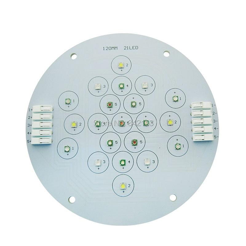 Customize 5 Channel 21Leds Cree + Epileds UV Led Emitter Lamp Light For DIY Aquarium Fish Tank Lamp Plant Growth Lightings<br>