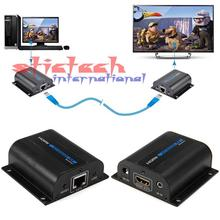 by dhl or ems 5 sets LKV372A HD 1080P HDMI Extender TX/RX 60M with IR over CAT6 RJ45 Ethernet Cable Support HDMI 3D(China)