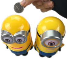 Interesting Minion Lovely 3D Minions Cartoon Figures Piggy Bank Money Box Coin Cent Penny Children Toy Baby Toy D0086(China)