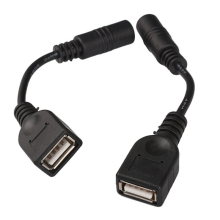 2pcs 5.5 x 2.1mm DC Female to USB AF DC Male Power Connector Cable for Laptop Adapter QJY99