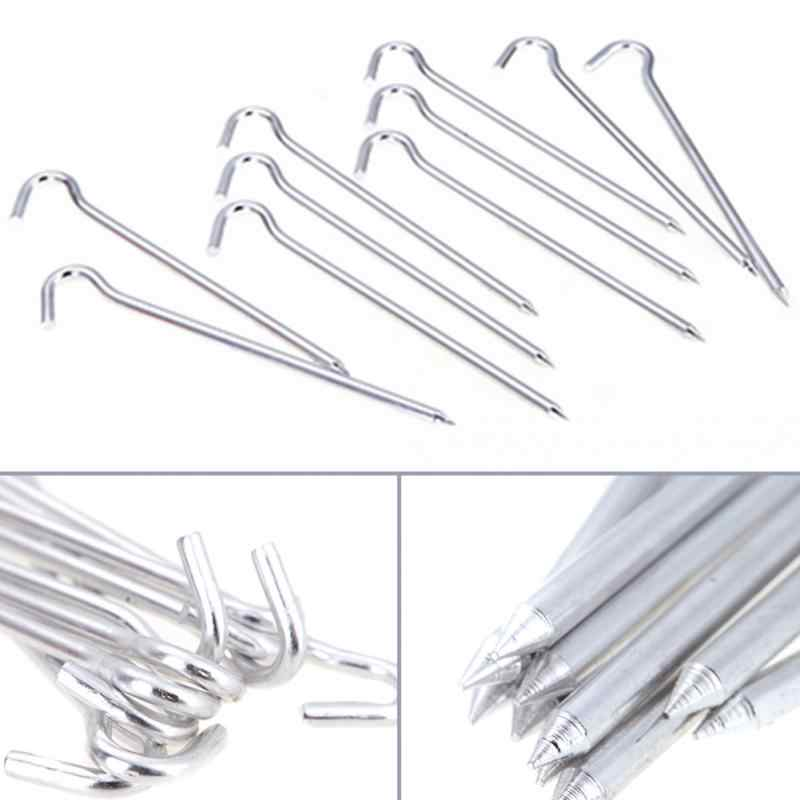 Heavy Duty Steel Hook /& Pin Awning Camping Hiking Tent Pegs Gadgets one