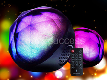 Remote control speaker Color Changing speaker wireless audio player LED Light Magic Crystal Color Ball speaker 1pcs freeshipping