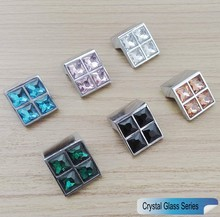 Crystal Glass Series 3D Diamond Knobs Furniture Small Door Drawer Color Handle Wardrobe Kitchen Cabinets Cupboard Pull Door Knob(China)