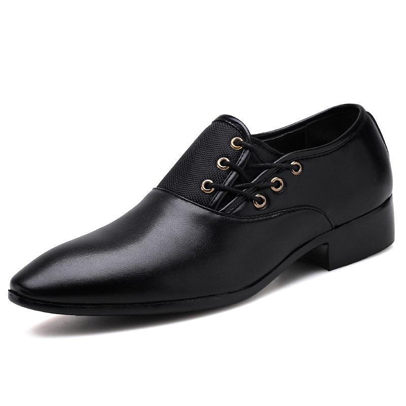 large size mens casual business office dresses breathable soft leather shoes pointed-toe shoe teenage gentlemen zapatos hombre<br>