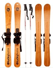 2015 brand new  90 cm Solid wood ski  skis  adult alpine freestyle skis The sled  fraxinus mandshurica wood