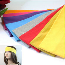 High Quality  Exercise Pilates Sweat Absorbent Travel Head Wrap Elastic Headbands Stretch Ribbon Hairband
