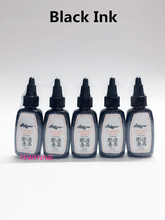 10 Bottles Of Black Tattoo Ink 1/2 OZ/Bottle Free Shipping /Pigment Outlining Ink