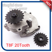 T8F 20 Tooth Gear Box For 33cc 43cc 49cc Ty Rod II Go Kart Mini Bike Go Ped Scooter Xtreme Motorcycle(China)