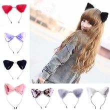 Hot Selling 2016 Lovely Girl Lady Fur Cat Fox Ears Headband Party Cosplay Costume Headband Wholesale