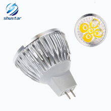 10PCS High power CREE Led Lamp Dimmable MR16 3W 4W 5W 6W 8W 9W 10W 12W 12V Led spot Light Spotlight led bulb downlight lighting