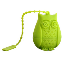 1pcs High Quality Cute Owl Tea Strainer Food Grade Silicone loose-leaf Tea Infuser Filter Diffuser Fun Cartoon Tea Accessories(China)