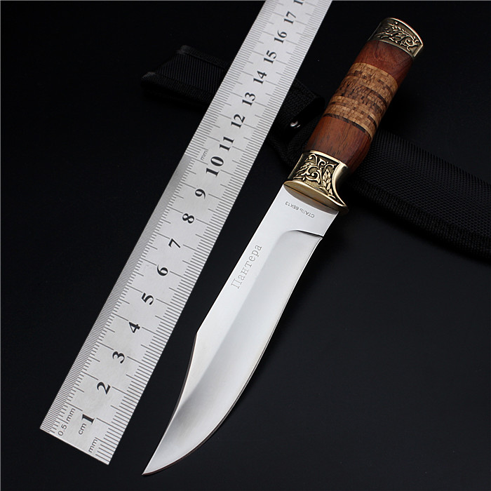 2017 New Wood Sale Rushed Navajas Outdoor Small Straight Self-defense Wilderness Survival The Cutter With Metalworking Knife<br><br>Aliexpress