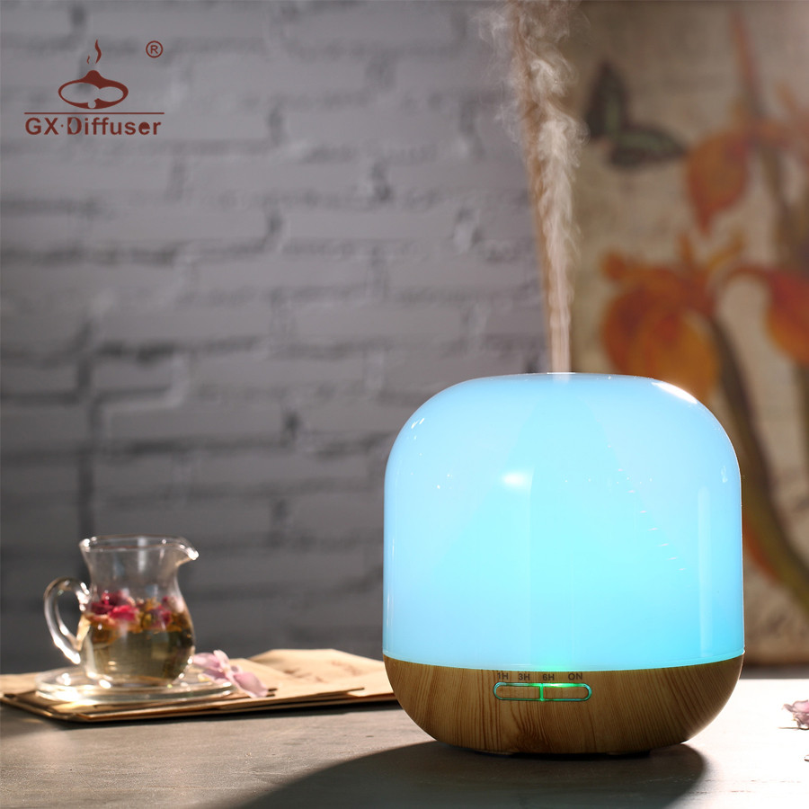 GX.Diffuser Aroma Diffuser Light Wood 300ml Newest Model Electric Humidifier Essential Oil Diffuser Aroma Diffuser Aromatherapy<br>
