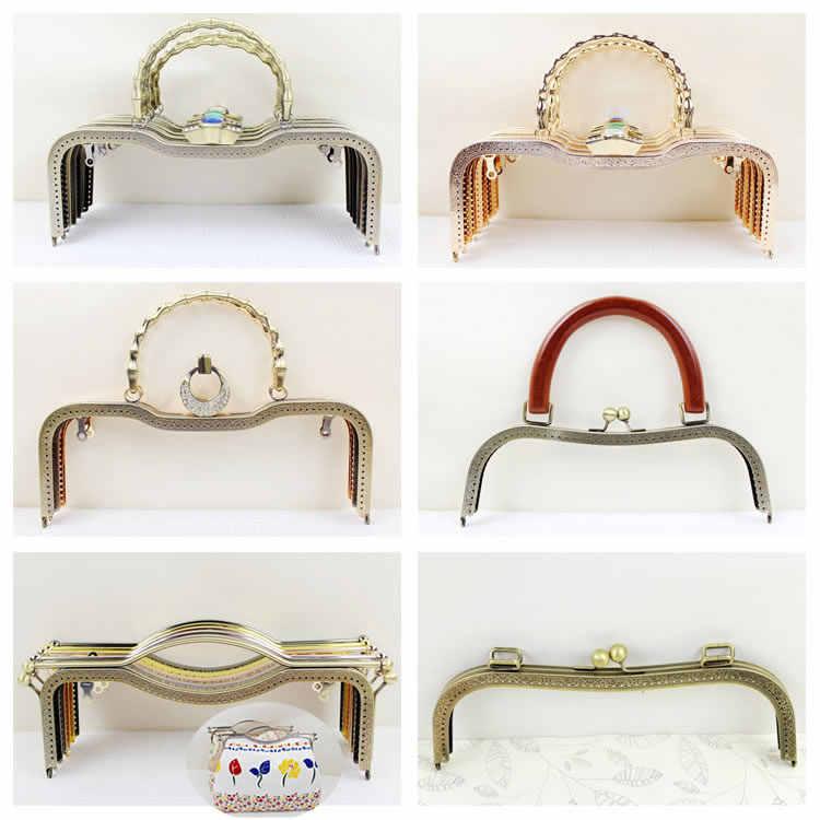 1 pcs 27 CM Size Metal Purse Frame Elegance O Bag Frame With Handle Alca De 4fbdd07dbc1f