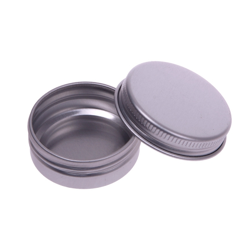 10 pcs 30ml Makeup Lip Balm Tin Nail Art Cream Pot Bottle Screw Thread Empty Cosmetic Containers #69197(China (Mainland))