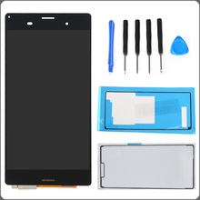 "5.0"" White Black For Sony Xperia Z3 L55t D6603 D6643 D6653 LCD Display Touch Screen Digitizer Assembly+Adhesive+Tools Free Ship"