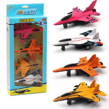 Kids Toy Boys Toys Diecast Airplane Model Kits 4pcs/set Pull Back Model Collection Birthday Gift Toys for Children