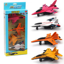 Kids Toy Boys Toys Diecast Airplane Model Kits 4pcs/set Pull Back Model Collection Birthday Gift Toys for Children(China)