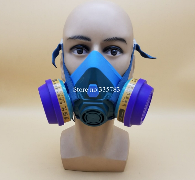 Against Formaldehyde Pesticide Double Tank Gas Spray Paint Chemical Dust Silicone Protective Respirators Respirator Gas Mask<br><br>Aliexpress
