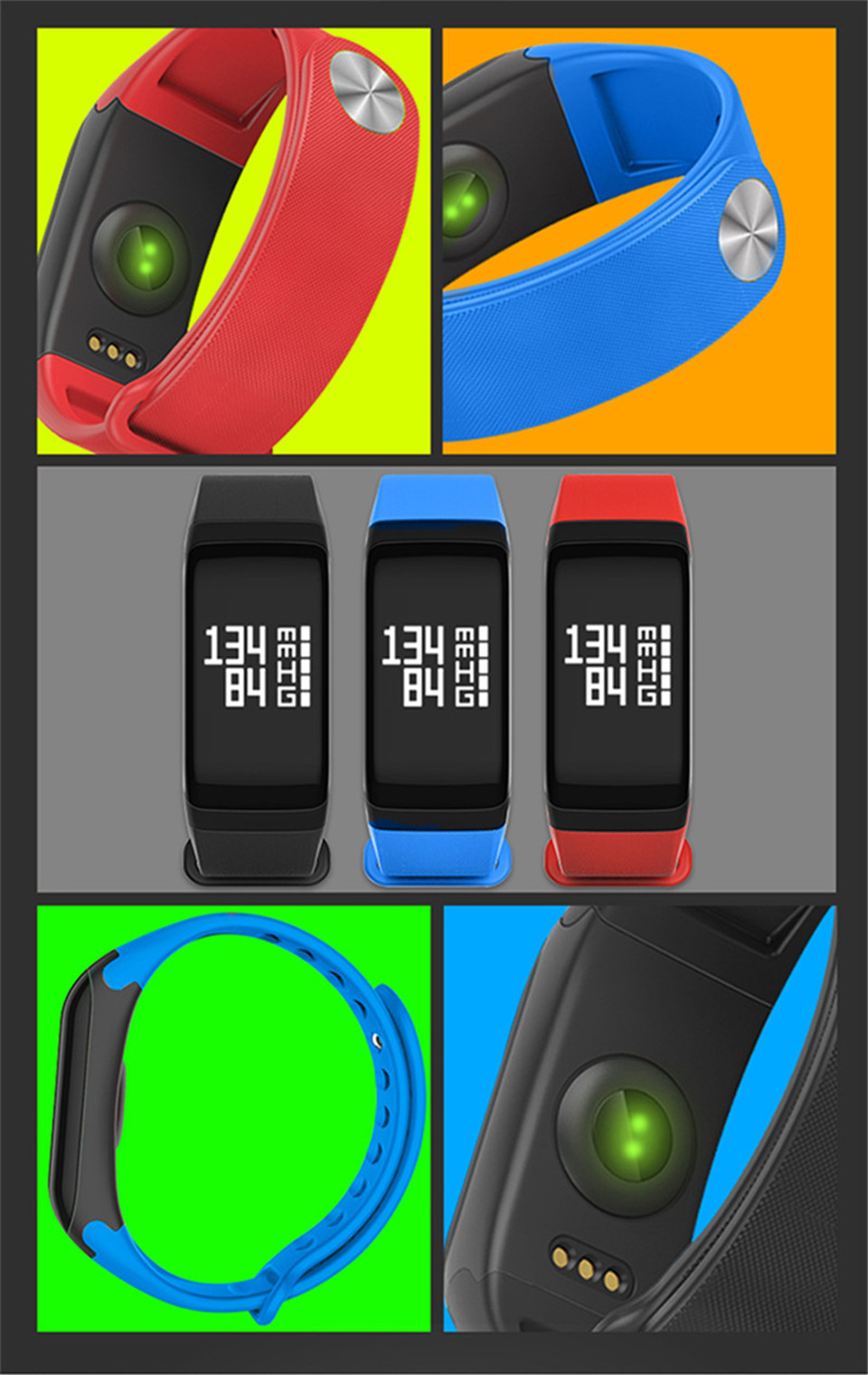 LETIKE Blood Pressure Smart Bracelet Sport Pedometer Fitness Tracker Wrist Smartband Pulse Measure Waterproof For IOS Android 12