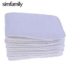 [simfamily]10PCS Reusable 3Layers Microfiber Inserts For Cloth Baby Diaper Nappy,Super Absorption,13.5X35CM,Wholesale Selling(China)