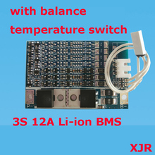 3S 12A 12.6V lipo lithium Polymer BMS/PCM/PCB battery protection circuit board for 3 Packs 18650 Li-ion Battery Cell w/ Balance