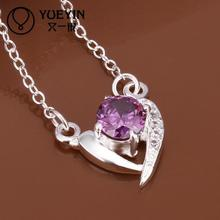 Fashion jewelry choker necklace purple crystal necklace hot brand chain necklace jewelry festival gift  for girlfriend