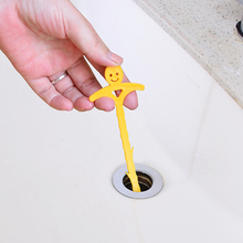 3pcs! Smile Design Colorful Toilet Kitchen Sewer Pipe Blockades Cleaning Plastic Drain Plunger Hooks cleaning supplies(China)