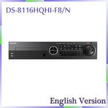 In stock original english version DS-8116HQHI-F8/N Turbo HD DVR Support  HD-TVI, IPC,AHD and analog cameras with adaptive access