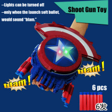 Crystal and Soft bullets gun The Avengers Captain America Shield Launcher Shoot Gun action figure toys for kids Christmas gift(China)
