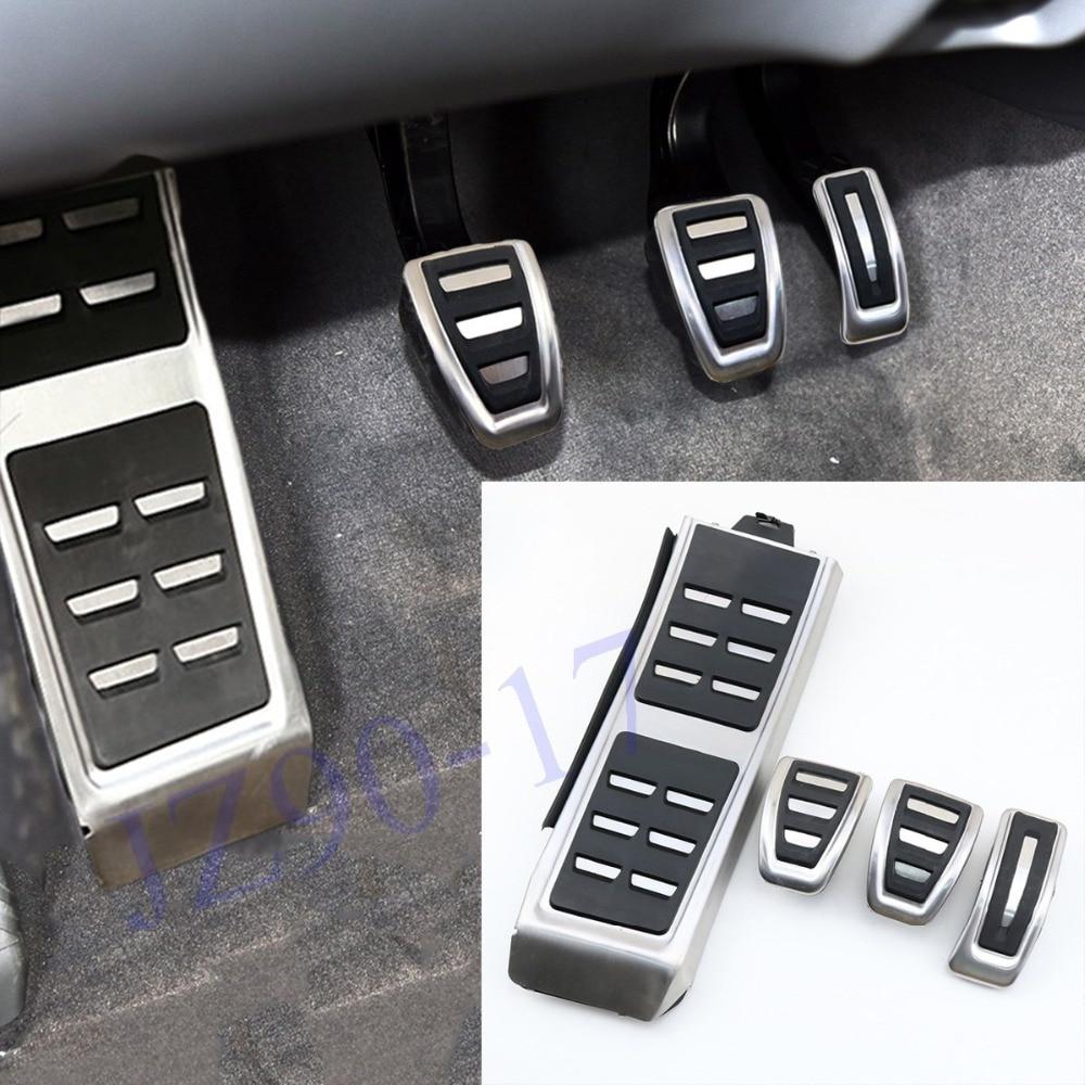 No Drill Black Drivers Footrest Fits A4 S4 A5 S5 Q5 A6 S6 A7 S7 2012-2017