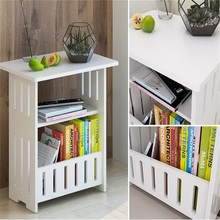 44x30x48CM Modern Wood Bedside Table Sofa Side Coffee Table Living Room Storage Cabinet