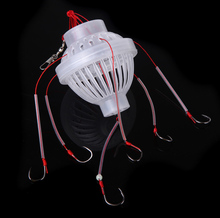 Plastic Fishing Tackle Sea Monster with Six Strong Spherical Carbon Steel Fishing Hook Fishhooks
