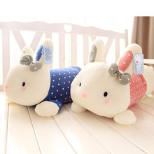 60cm Creative cute Prone position rabbit doll animal Plush Toy Long Hold Pillow cartoon stuffed toy girl gift 1pc
