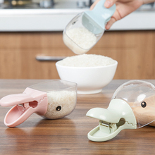 New Stylish Duck Head Shaped Plastic Seal Clip Rice Cereal Spoons for Flour Oatmeal