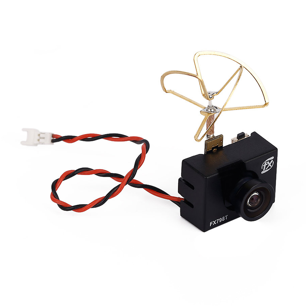 FX798T 5.8G 25mW 40 Channel AV Transmitter With 600 TVL Camera Soft Antenna  for DIY FPV Mini Drone RC Quadcopter<br>