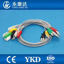 Spacelabs 5-lead 90369 Ultraview Trunk Cable and ECG Leadwires IEC 2pin clip surgical supplies(China)