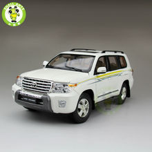1:18 Scale Toyota Land Cruiser LC200 Diecast SUV Car Model Toys for gifts collection hobby White