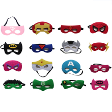 16pcs/set Super Hero Mask Christmas Kids Happy Birthday Children's Day Gift Halloween Cosplay Party Supplies Hulk The Flash Mask(China)