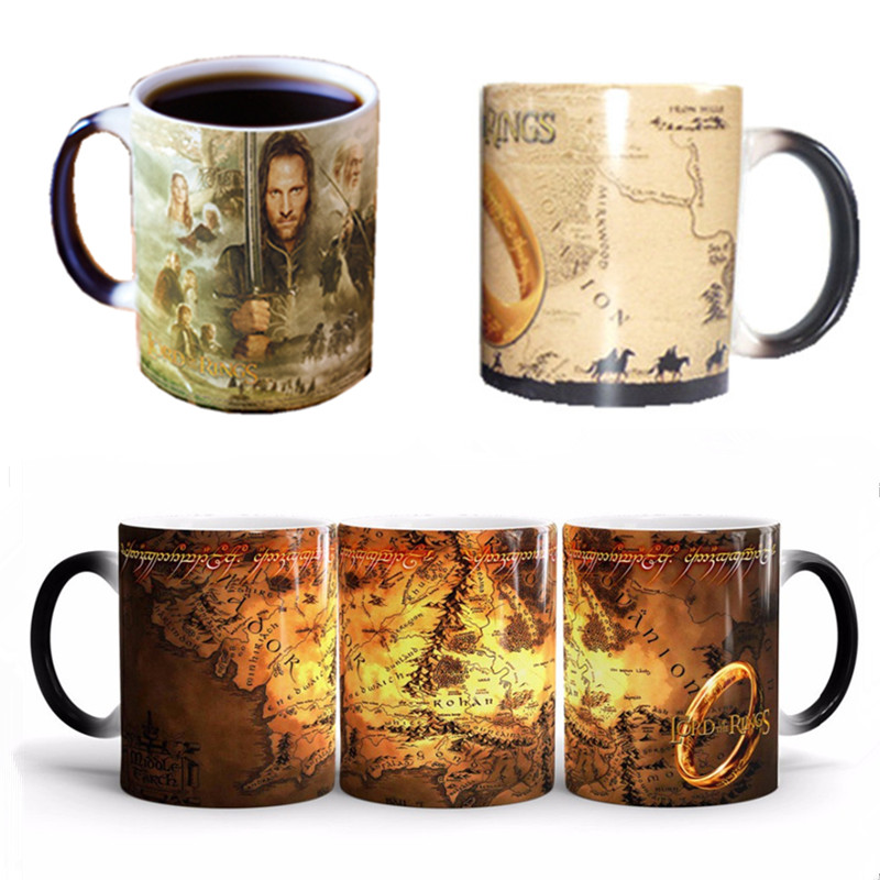 The Lord of The Rings Coffee Mug Series Mark Color Changing Cup Sensitive Ceramic Tea La Copa Friends Gift(China (Mainland))