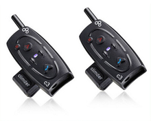 2pcs BT1000M Motorcycle Helmet Bluetooth Headset & Intercom With Built-in FM Tuner