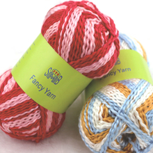 10*50g Colorful Yarns For Sweater Rainbow Mat Knitting Thick Crochet Dyed Acrylic Yarn(China)