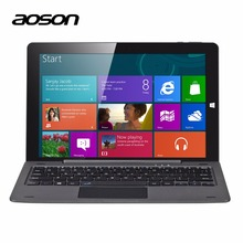 Business Windows 10 Laptop 10.1 inch Tablet PC Aoson R105 4G/64G Quad Core Cherry Trail Z8300 1280*800 HDMI Notebook keyboard(China)