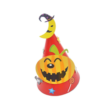 DIVV home accessories new fashion Halloween Paper Cartoon Cap Child Child Halloween Ornament Hat hot sale*30 GIFT Drop shipping
