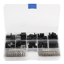 610pcs 2.54mm Housing Connector Header Male & Female Crimp Pins Kit For Electrial Connectors
