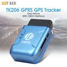 TK206 GPRS GPS Tracker OBDII Interface Geo-fence Car Tracker Without OBD Function Auto fleet vehicle Tracking Device(China)